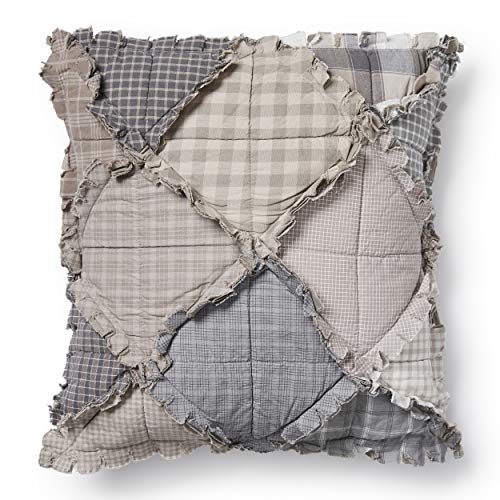 Throw Pillow - Smoky Mountain by Donna Sharp - Contemporary Decorative Throw Pillow with Patchwork Pattern - Square