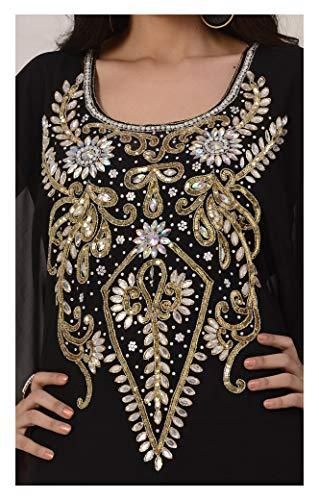Dress OKM Long Top Women's Abaya Farasha Jalabiya Dubai Style Kaftan Caftan Navyblue Maxi q6wxr1qvA