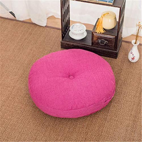 - Lym1108-chair Cushion-6060easy to Remove and Wash Sofa Pillow Car Window Tatami Linen Cushion Round Cushion Padded Cushion Cotton and Linen