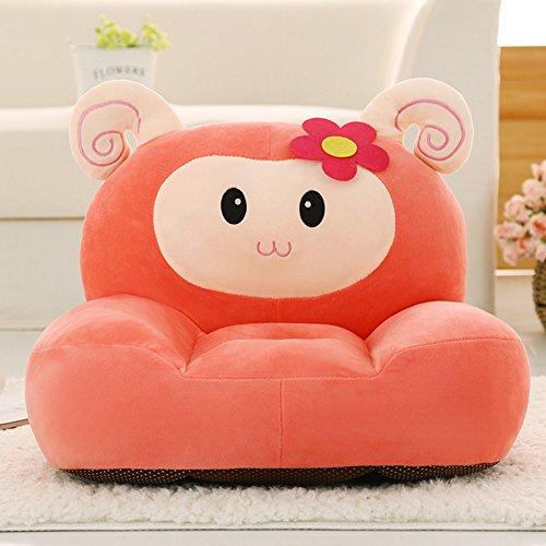 Children Detachable Plush Chair Cartoon - Animals Design Birthday Gifts Orange Sheep Plush Toys 20 Inch by bigxxx
