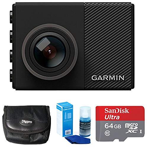 Garmin Dash Cam 65W 1080P w/ 180-Degree Field of View (010-01750-05) with 64GB Mounting Bundle