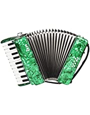 Abarich 22-Key 8 Bass Piano Accordion with Straps Gloves Cleaning Cloth Educational Music Instrument for Students Beginners Childern