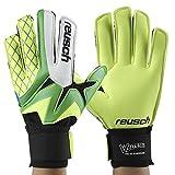 1 Pair Goalkeeper Gloves, Thickened Latex Soccer Finger Save Protection Goalie Gloves Football Full Finger Gloves