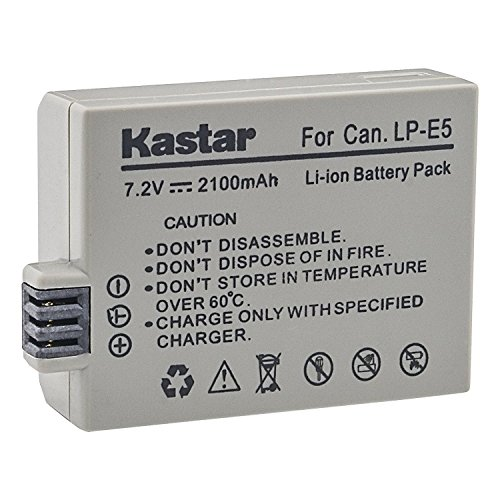 Kastar Replacement Battery 1-Pack for Canon LP-E5 LPE5 and Canon EOS 450D, EOS Rebel XSi, EOS Rebel XS, EOS 1000D, EOS Rebel T1i, EOS Kiss F, EOS Kiss X2, EOS Kiss X3 Cameras