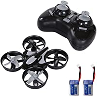 SGILE Mini RC UFO Quadcopter Nano Drone with 2 Free Batteries, 360° Flip One Key Return/Rotation Recover Balance Headless Mode, 2.4GHz 4CH 6 Axis for Kids (Grey)