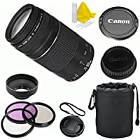 Canon EF 75-300mm f/4-5.6 III Celltime Premium Zoom Lens Kit for Canon EOS 7D, 60D, EOS Rebel SL1, T1i, T2i, T3, T3i, T4i, T5i, XS, XSi, XT, XTi Digital SLR Cameras Explained Review Image