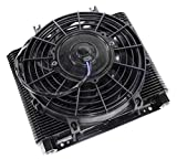 Oil Cooler Element, 72 Plate Mesa Style, With Electric Fan, Compatible with Dune Buggy
