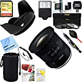 Tamron AFB023C-700 10-24mm F/3.5-4.5 Di II VC HLD Lens + 64GB Ultimate Filter & Flash Photography Bundle