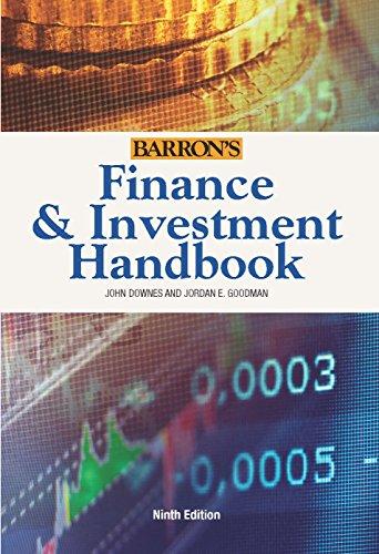 Finance & Investment Handbook (Barron's Finance and Investment Handbook) [John Downes - Jordan Goodman] (Tapa Dura)