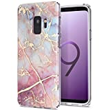 Galaxy S9 Case,Samsung Galaxy S9 Case,Spevert Marble Pattern Hybrid Hard Back Soft TPU Raised Edge Ultra-Thin Shock Absorption Slim Protective Case for Samsung Galaxy S9 2018 - Colorful