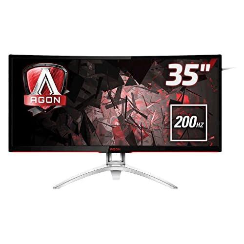 chollos oferta descuentos barato AOC Agon AG352QCX Monitor 35 Curvo QHD 2K resolución 2560 x 1080 Pixels Contraste 2000 1 4 ms FreeSync FlickerFree LowBlue Altavoces VESA HDMI Displayport