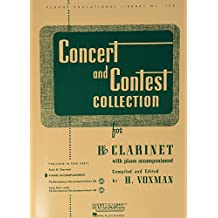 Concert and Contest Collections: Bb Clarinet - Piano Accompaniment (Rubank Educational Library)