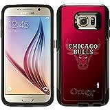 Chicago Bulls - Logo Watermark design on Black OtterBox Commuter Series Case for Samsung Galaxy S6
