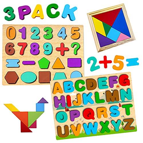 Puzzle en bois enfant 3 en 1