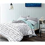 GAW Home Fashion Cotton 4-Piece Duvet Cover Bedding Set, King/California King,Quilt Cover(200*230Cm*1),Sheet(245*250Cm*1),Pillowcase(48*74Cm*2)