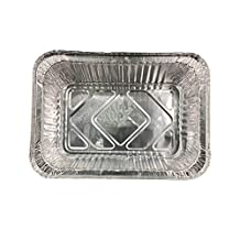 Li Jun Feng Disposable Aluminium Foil Lunch Box Barbecue Tray Packing Box Buffet Meal Box (50, With Aluminum Paper Lids)