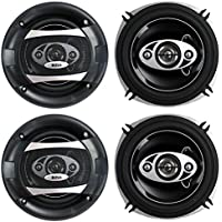 4) BOSS P55.4C 5.25 600W 4-Way Car Coaxial Audio Speakers Stereo P554C 2 PAIR