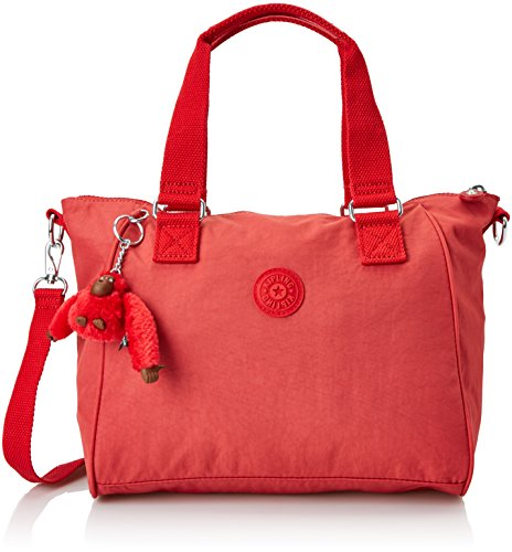 Kipling Amiel, Bolso bandolera para Mujer, Rojo, 27x24.5x14.5 cm