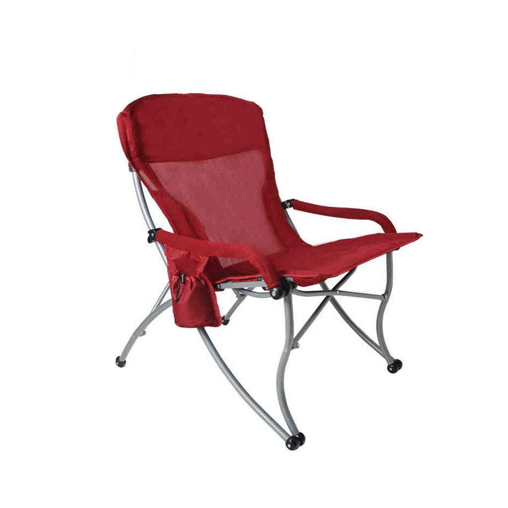 Kaiyu Tragbare Klappstuhl Outdoor Angeln Stuhl Mittagspause Lounge Stuhl Bürostuhl Strandkorb 66x60x90cm