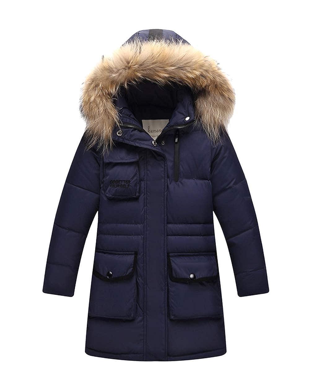 Bleu Marin 1 Stature fille 110-120cm Insun Doudoune pour Garçon Fille Veste d'hiver avec Capuche Amovible Enfant Manteau Blouson
