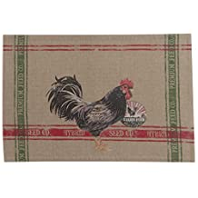 Kay Dee Designs Home to Roost Chambray Fabric Placemats (Set of 4)