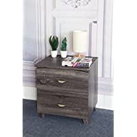 Y1603 Smart Home Distressed Grey Nightstand