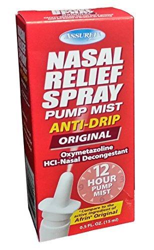 Nasal Relief Spray - 12 Hour Anti-drip Pump Mist 0.50 FL. OZ. by Assured