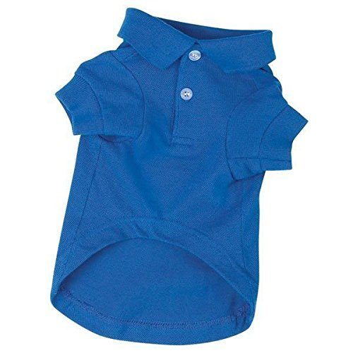 POLO DOG SHIRT Preppy Button Down Cotton Shirts for Dogs 5 Colors To Choose From(Small - 12