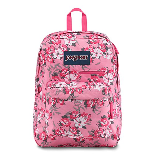 Jansport Digibreak Laptop Backpack - Prism Pink Pretty - Prism Flowers