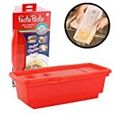 Fasta Pasta Microwave Pasta Cooker - The Original (Red) - No Mess, Sticking or Waiting for Boil