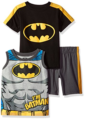 Warner Brothers Boys' 3 Piece Batman Tank, Tee and Short Set at Gotham City Store