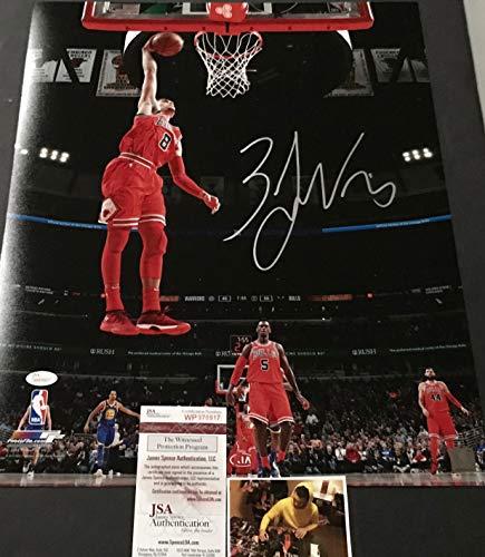 Zach LaVine Chicago Bulls Autographed Signed 16x20 JSA WITNESS COA b79e50f4e