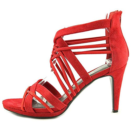 Impo Womens Suki Open Toe Ankle Wrap Classic Pumps Red Suedy Stretch CRbwg95gb