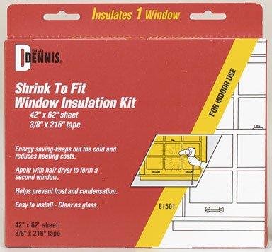 """W.J. Dennis Shrink to Fit Window Insulation Kit 42 X 62"""" """""""