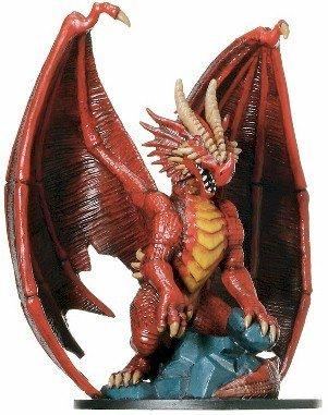 D & D Minis: Huge Red Dragon # 71 - Giants of Legend