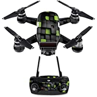 Skin for DJI Spark Mini Drone Combo - Cubes| MightySkins Protective, Durable, and Unique Vinyl Decal wrap cover | Easy To Apply, Remove, and Change Styles | Made in the USA