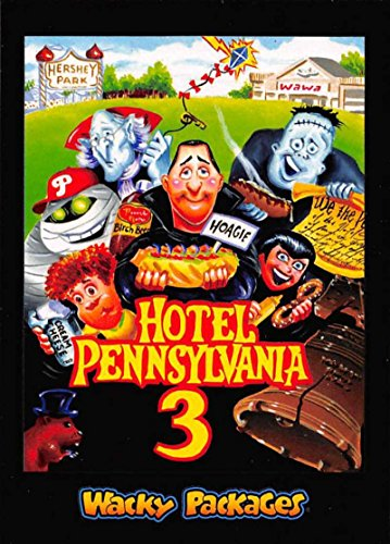 2018 Topps Wacky Packages Go to the Movies Animated Film Stickers #8 Hotel Pennsylvania 3 NM-MT (Package Hotel)