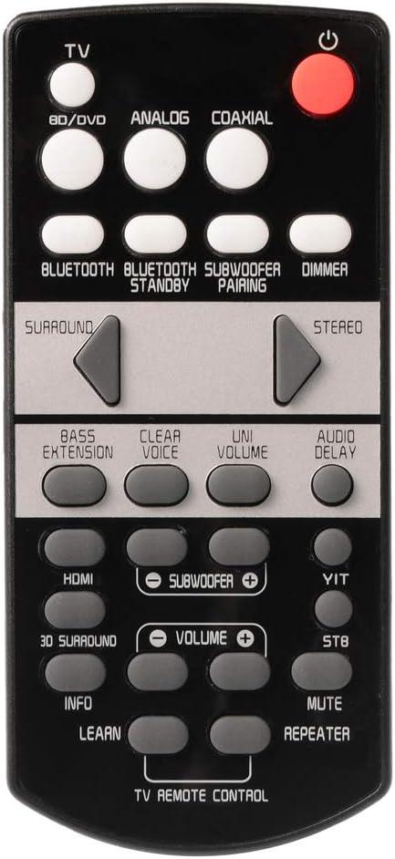 YUHUA ELE Mando a Distancia para Yamaha YAS 107 Barra de Sonido - Control Remoto de Reemplazo para Soundbar