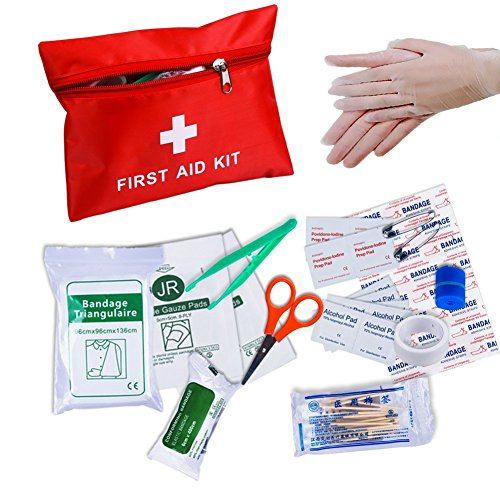 First Aid Kit, Convenient Survival Medical Kit Outdoor Emergency Bag Durable Waterproof Compact Response Trauma Bag for Home Car School Sports Travel Outdoor Hiking Camping