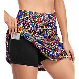 חצאית ספורט פרחונית המותאמת לנשים רק באתר tennisnet !