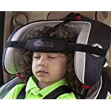 Head Hugger - Car Seat Head Support Device That Cradles the Head and Eliminates Pressure on the Neck (Black)
