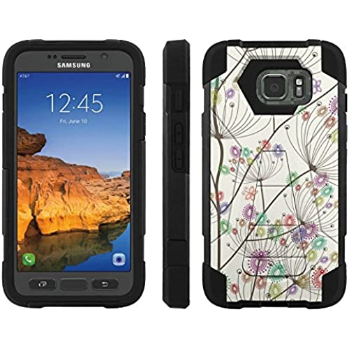 AT&T [Galaxy S7 Active] ShockProof Case [ArmorXtreme] [Black/Black] Hybrid Defender [Kickstand] - [Color Spring Flower] for Samsung Galaxy [S7 Active] Sales