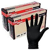 EverGuard Black Nitrile Exam Gloves, Non Latex, Powder Free (200, X-Large)