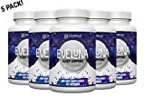 Eveluna - Natural Sleep Aid Supplement with Melatonin, Valerian, Tryptophan, 5-HTP and More - Non-Habit Forming Sleeping Pill Support - Wake Rested And Refreshed - 60 Veggie Capsules (5)