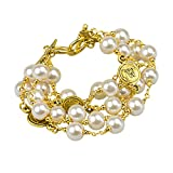 John Wind, Multi-Strand Anniversary Pearl Bracelet (Gold Finished Base Metal)