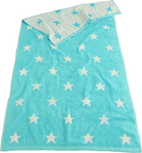 XXL LASA estrellas de la toalla de baño 100 x 150 cm con diseño de estrellas de mano de 6 coloures de la tela de algodón de rizo: Amazon.es: Hogar