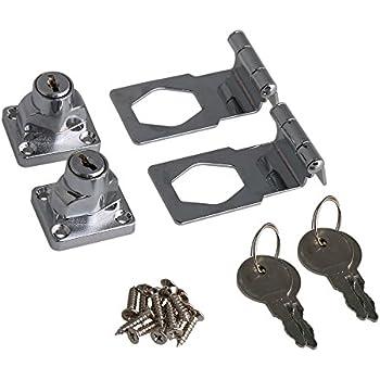 uxcell 2 5 zinc alloy chrome plated hasp twist knob cabinet drawer rh amazon com