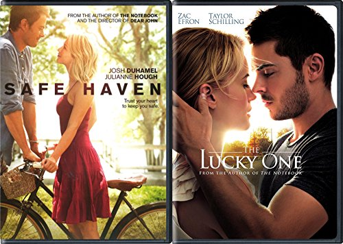 Nicholas Sparks Safe Haven Movie & The Lucky one Zac Efron Double Feature Love Bundle
