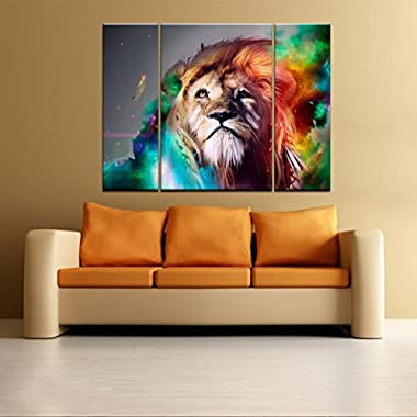 Framed Ready to hang Painting on Canvas Prints Modern Wall Art Decor Lion