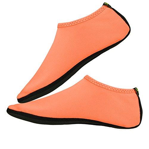 Women Skin Shoes Unisex Sport Men Beach Summer Breathable Alomejor 1 Pair Orange Socks Swim qSXanw0
